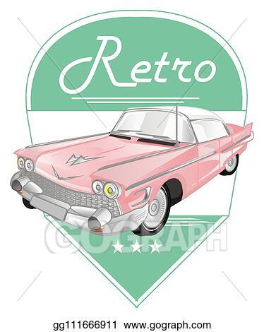 Vintage Car Clipart : vintage, clipart, Stock, Illustration, Vintage, Clipart, Gg111666911, GoGraph