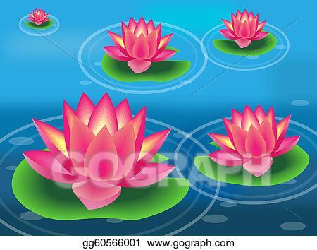 vector illustration - water flower