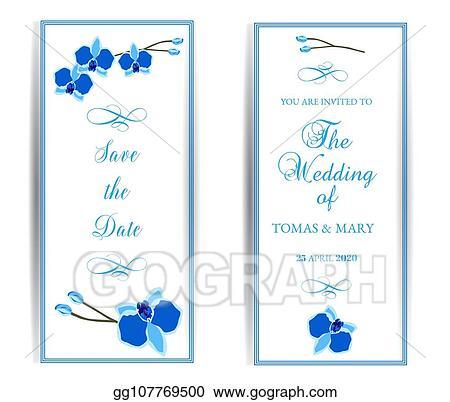 Vector Ilration Wedding Marriage Event Invitation