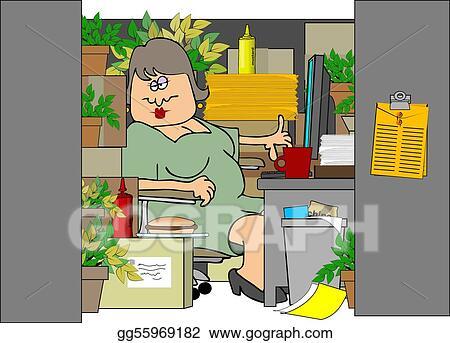 stock illustrations - woman