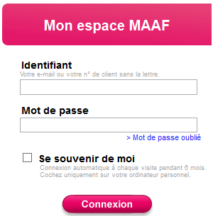Mon Espace Client Maaf Credit Mon Compte Assurance Www Maaf Fr