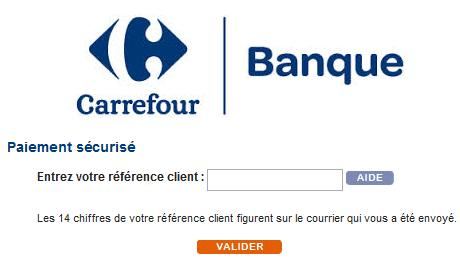 Reglement.pass.fr Carrefour Banque Régularisation