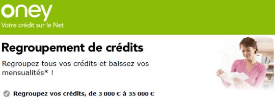 rachat de crédit oney banque accord