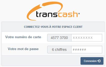 espace client transcash accès