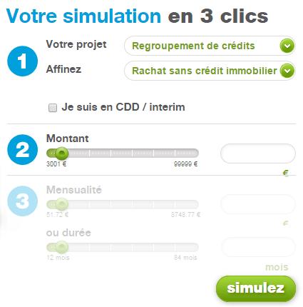 simulation regroupement de crédits Cetelem