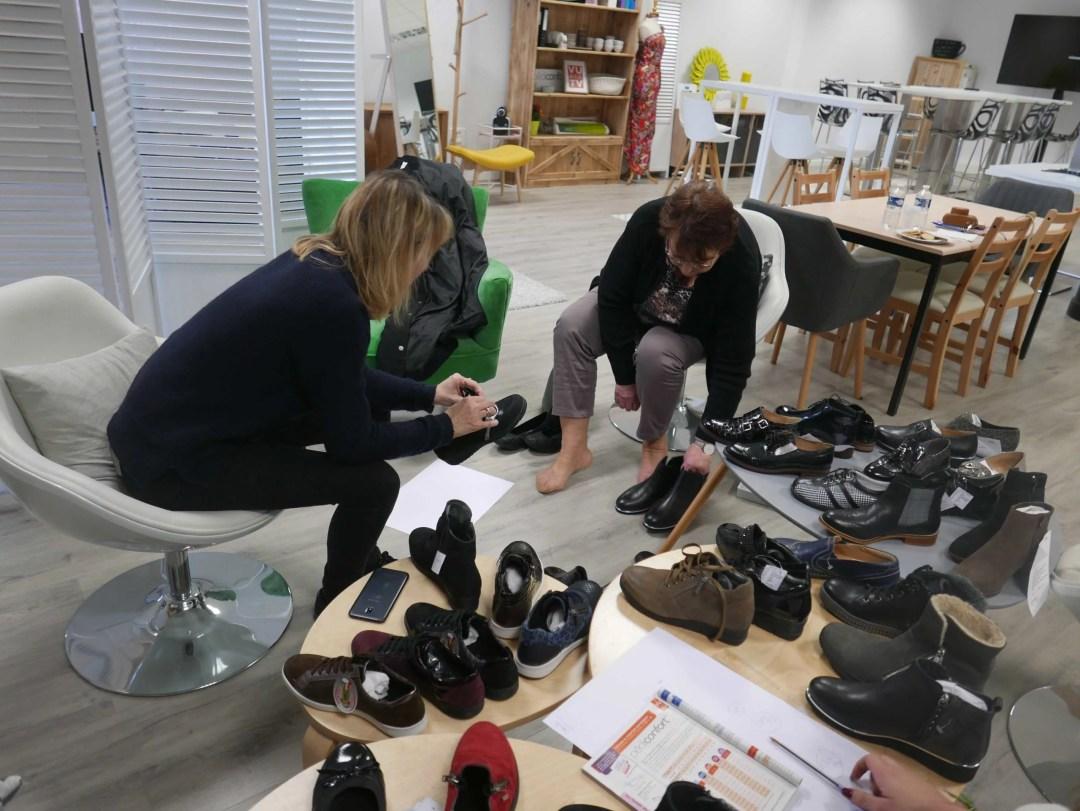 Acheter des chaussures pieds sensibles et pouvoir les essayer !
