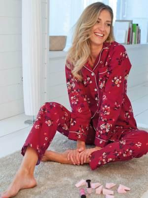 pyjama boutonné en flanelle