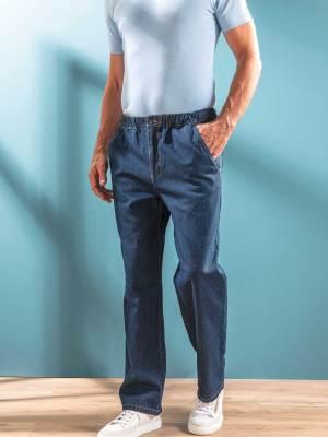 Jean taille élastiquée et lien de serrage