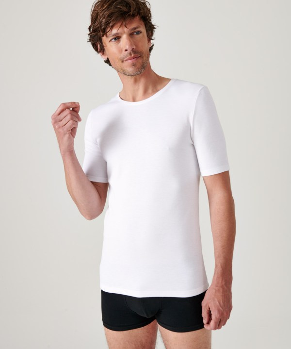 Le tee-shirt manches courtes THERMOL homme blanc