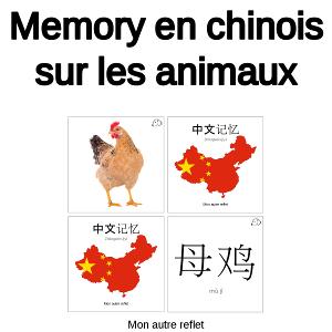 fichier memory en chinois sur les animaux