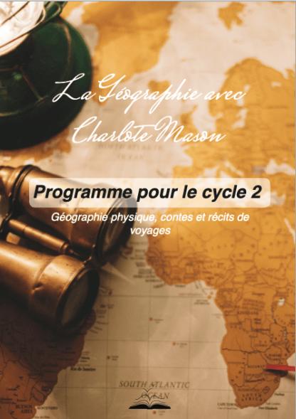 programme géographie cycle Charlotte Mason