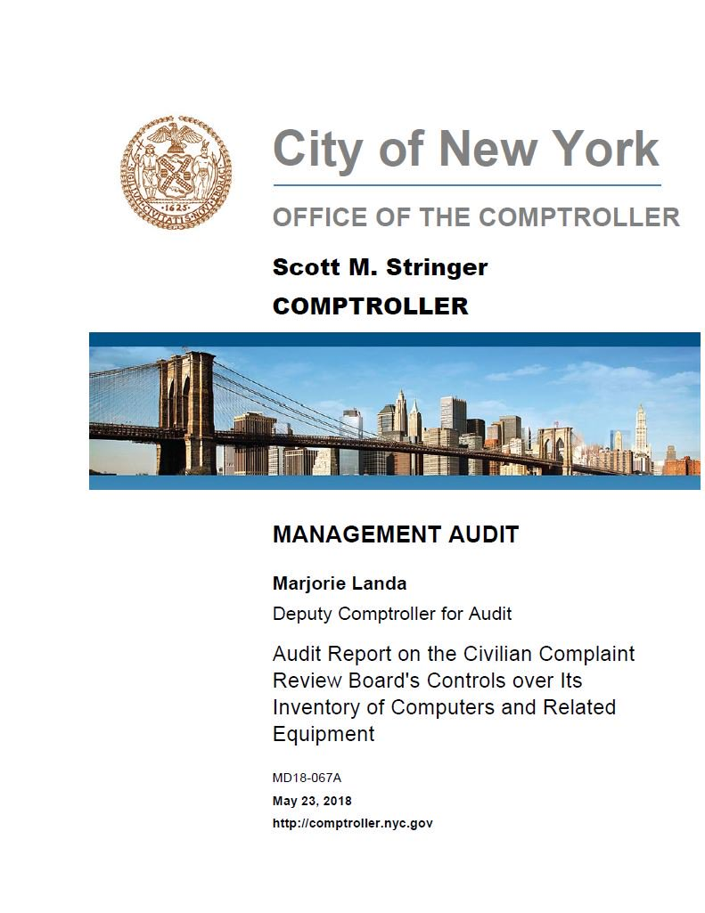 Audit Report on the Civilian Complaint Review Boards