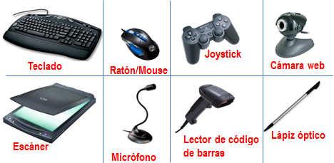 Principales dispositivos de entrada de la computadora