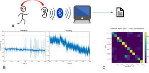 Automatic detection of human activities from accelerometer sensors integrated in hearables