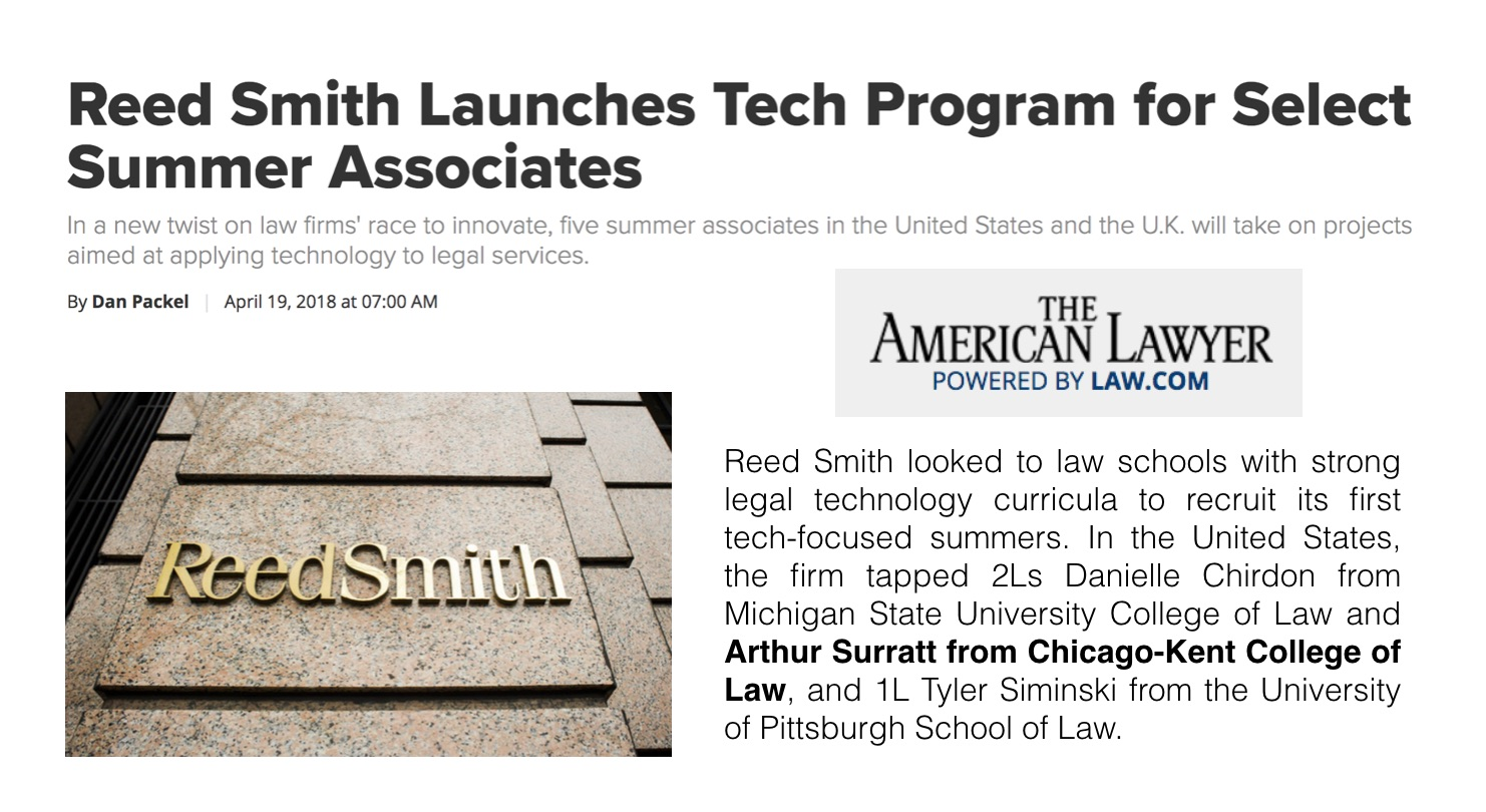 Reed Smith Launches Tech Program for Select Summer