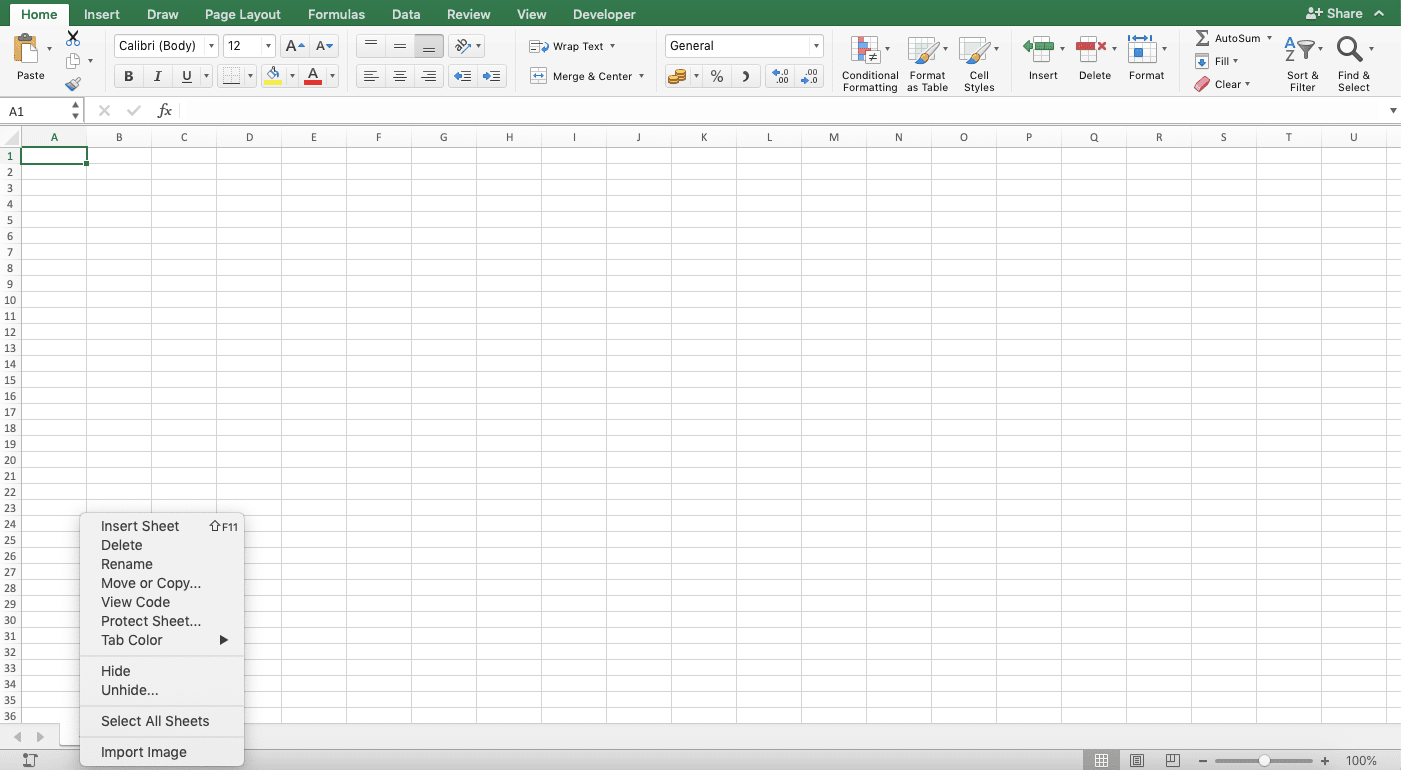 How To Unhide Sheets In Excel