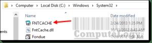 FontCache in System 32 Folder
