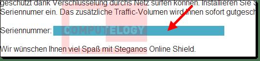 Steganos Online Shield 365 Registration Email License