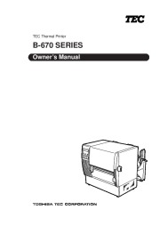 Toshiba TEC B-670 Thermal Printer Owners Manual