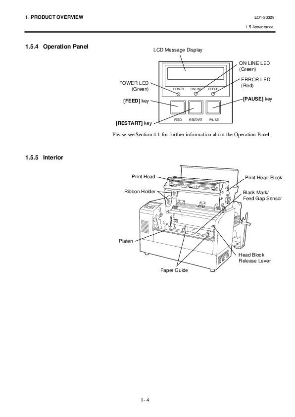 Toshiba TEC B-852-TS12-QQ Label Tag Printer Owners Manual