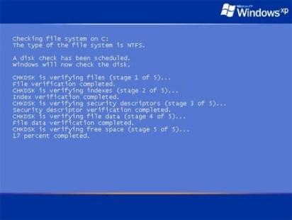 восстановление файлов CHKDISK запущена