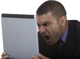 злой на ноутбук