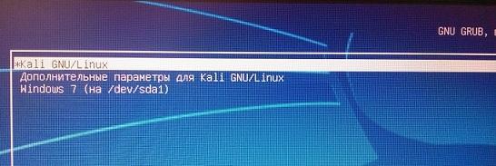 как изменить порядок загрузки кали линукс и windows