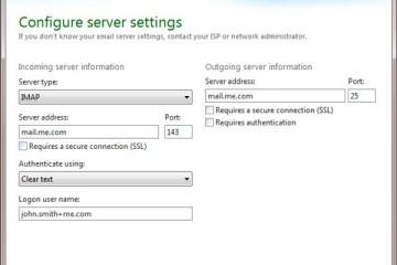Configure Server Settings