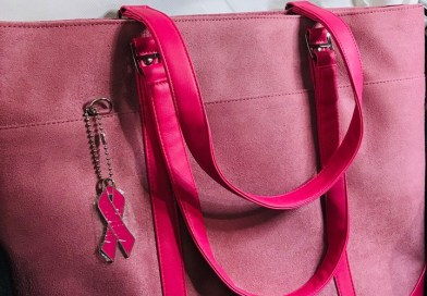 Pink Faux-Suede Laptop Tote 17""