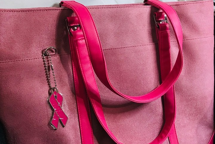 """Pink Faux-Suede Laptop Tote 17"""""""