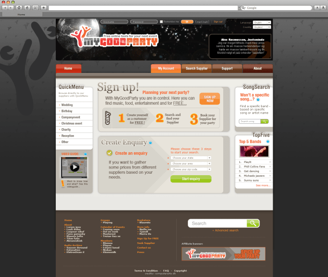 mygoodparty - web design