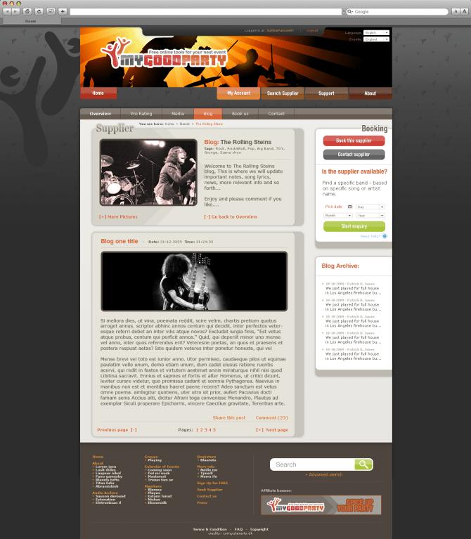 band page blog