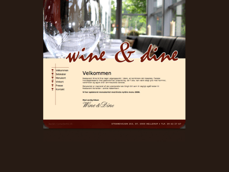 webdesign Wine and dine website