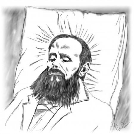 dead Dostoyevski by Illustrator and graphic designer Mark Barner from ComputerArts.dk