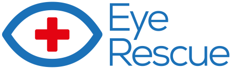 Eye Rescue logo design visual identity charity website