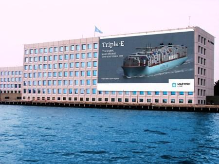 maersk trip-e poster ad mærsk building copenhagen