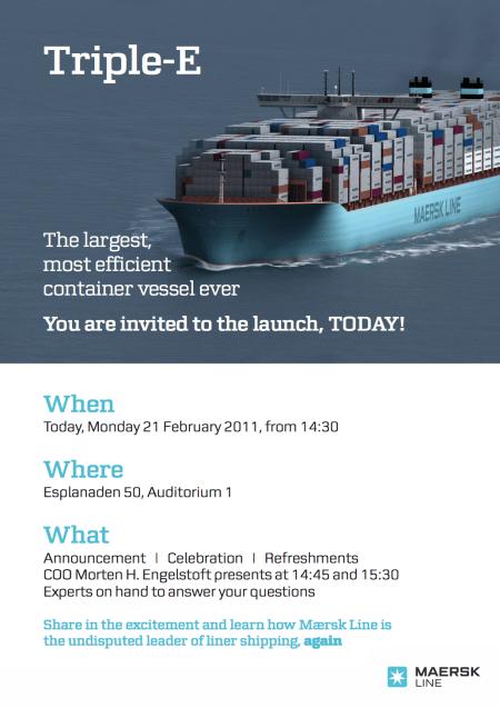 maersk mærsk invite invitation graphic design professional card