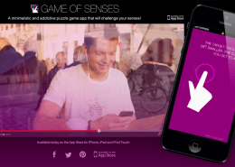 Game of senses iphone ipad app ios appstore