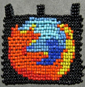 my beaded Firefox icon