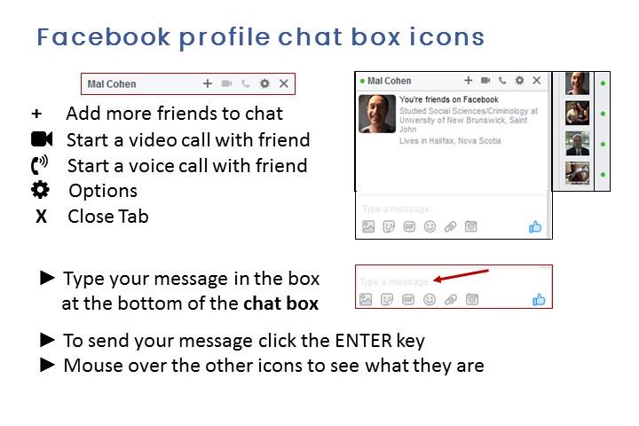 fb chat box icons