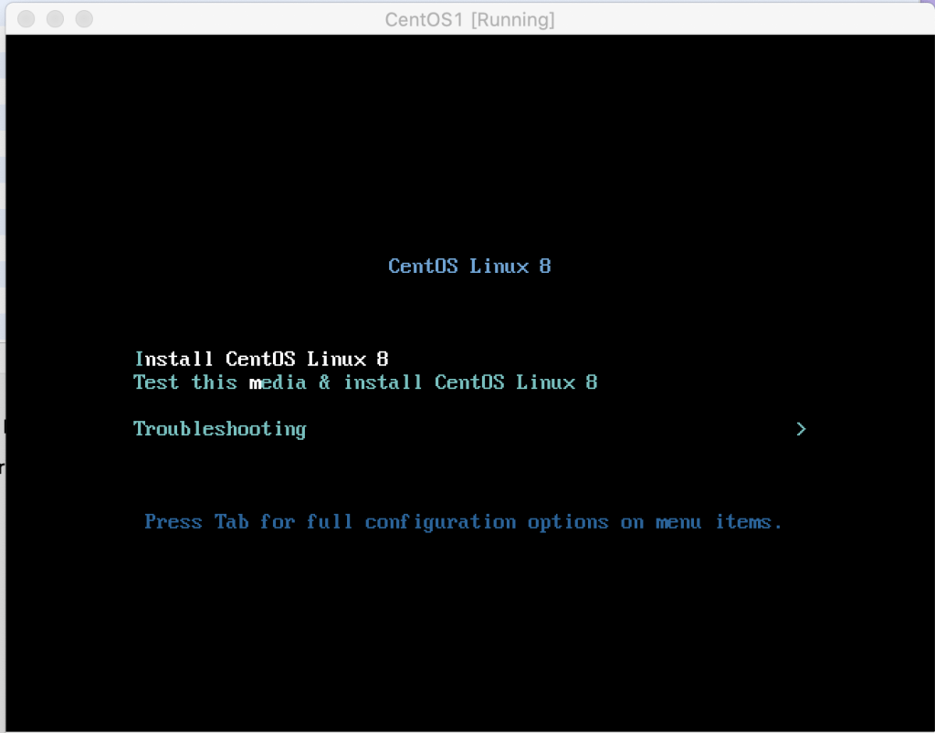 CentOS 8 Install screen