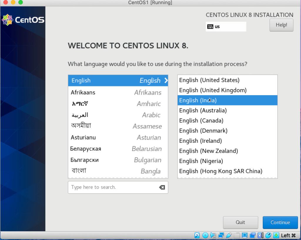 Screen2-Language Selection