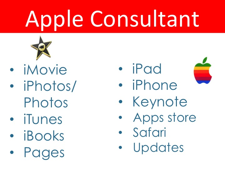 Apple consultant one-on-one training