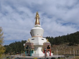 Arriviing at the Great Stupa