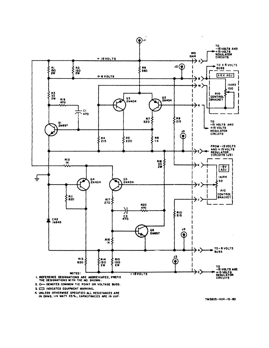 medium resolution of 6 volt power supply regulator circuits assembly a14 pc 80034170 schematic diagram