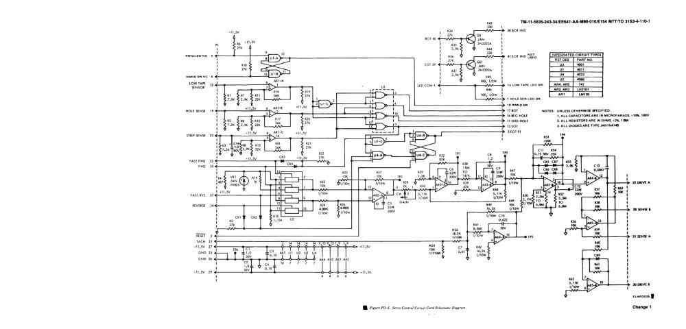 medium resolution of servo control circuit card schematic diagram