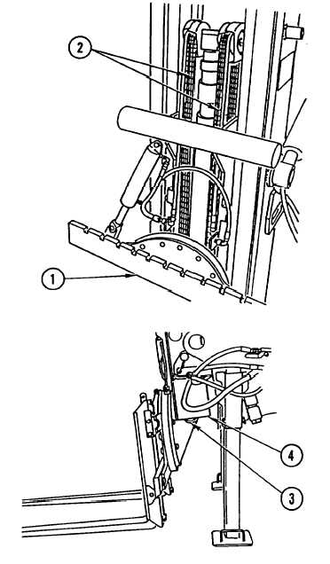 FORKLIFT CARRIAGE CHAIN ADJUSTMENT