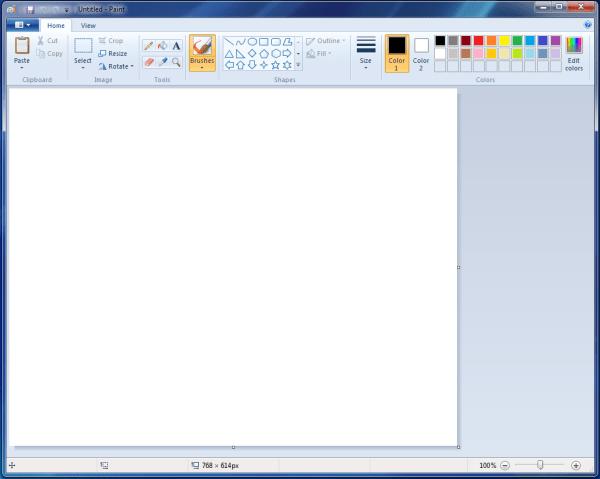 MS Paint Windows 7