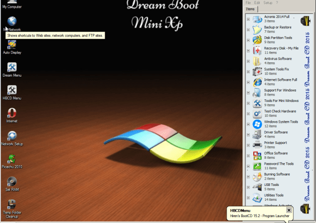 Dream Boot CD 2015 Mini Xp