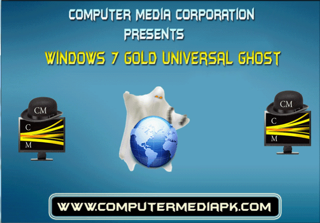 Windows 7 Gold Edition Universal Auto Ghost Main Splash Screen